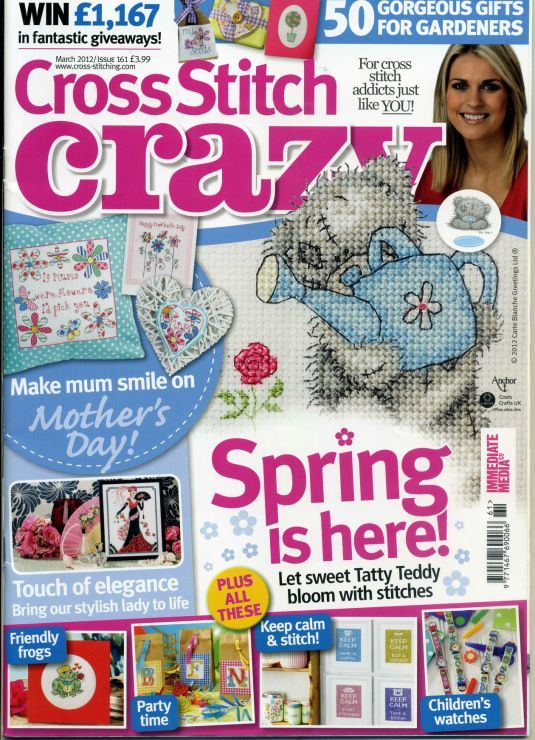 cross stitch crazy magazine cover march 2012