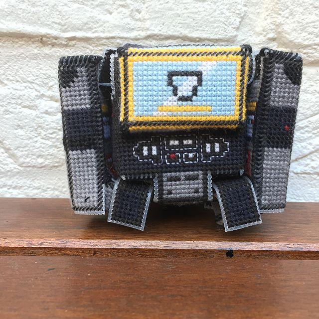 fan made soundwave transformer cross stitch tape deck