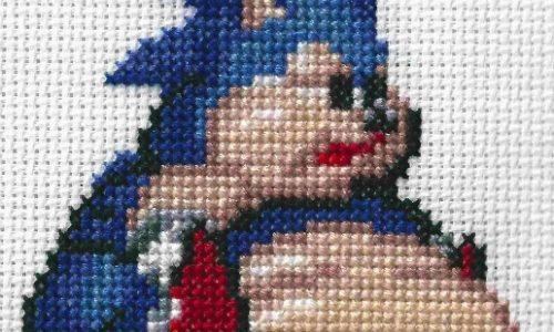 Fat Sonic Cross Stitch by Lord Libidan