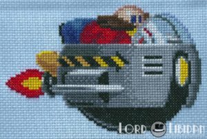 Dr Robotnik Cross Stitch by Lord Libidan