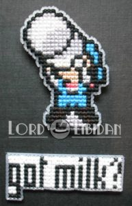 Got Milk Cross Stitch Magnets – Harvest Moon by Lord Libidan