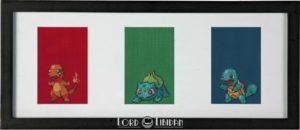 Pokemon Triptych Cross Stitch by Lord Libidan
