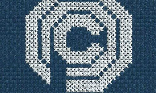 Robocop OCP Logo Cross Stitch by Lord Libidan