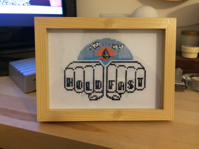 Self framed cross stitch (source: plasticlittlecovers.com)