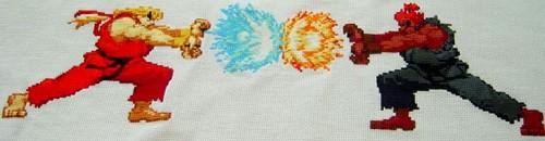 Street Fighter Cross Stitch by Celes_Lionheart (source: spritestitch.com)
