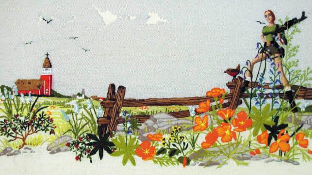 Lara Croft Cross Stitch by Becky Schaefer (source: mrxstitch.com)