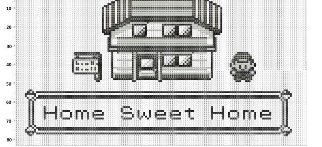 Pokemon Home Sweet Home Free Cross Stitch Pattern