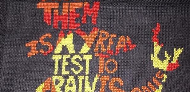 Charmander Typography Cross Stitch by cheshiremouse (source: google images)