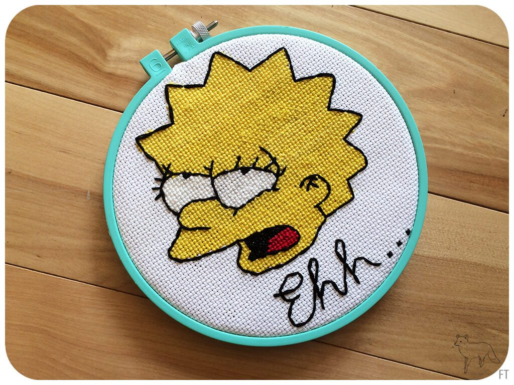 Lisa Simpson Cross Stitch by Fox On An Island (source: foxonanisland.com)