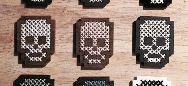 Skulls Cross Stitch by Kate Blandford (source: kateblandford.com)