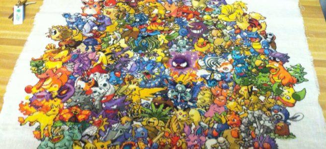 Pokemon Cross Stitch by 42kayla (source: twitter.com)