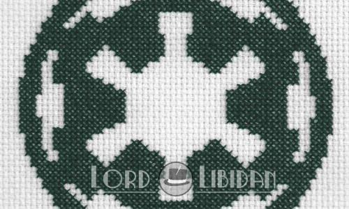Star Wars Imperial Logo Cross Stitch by Lord Libidan