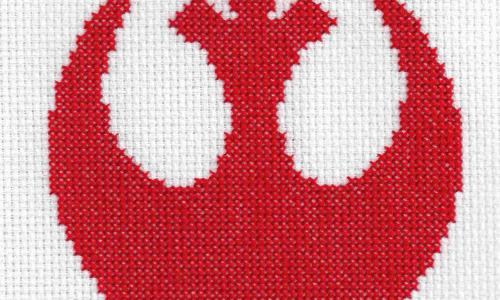 Star Wars Rebel Logo Cross Stitch by Lord Libidan