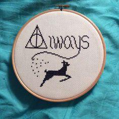 Harry Potter Always Cross Stitch (source: Etsy)