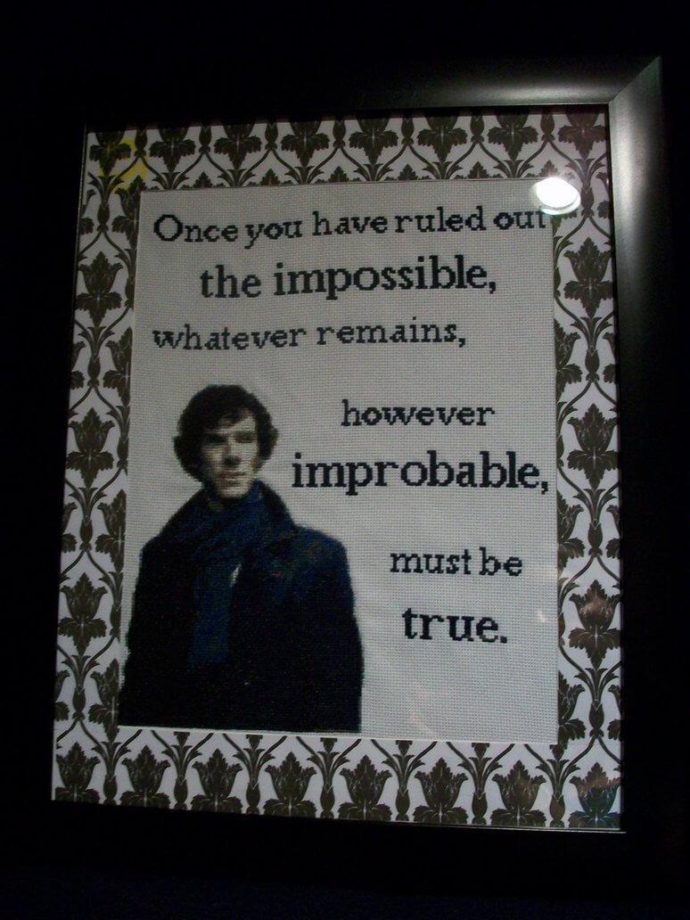 Sherlock Cross Stitch by Melefim (source: google images)