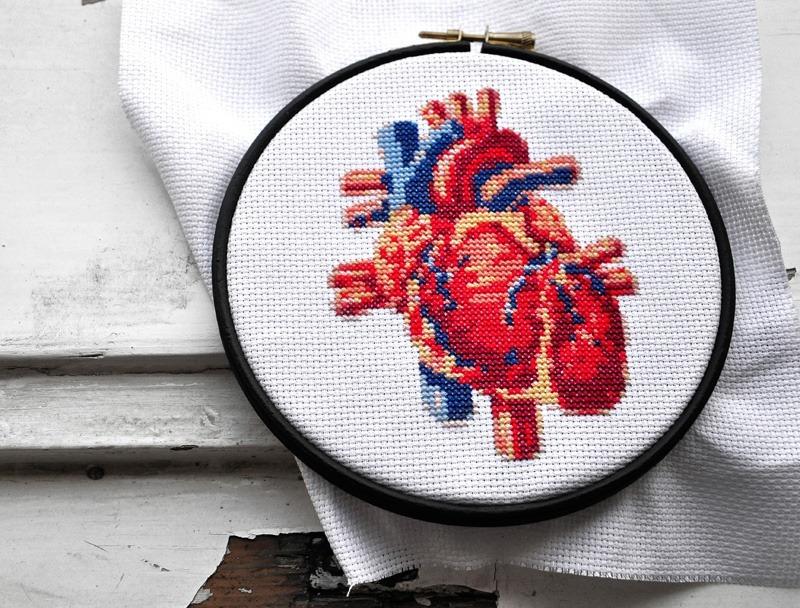 Kreuzstich heart cross stitch (source: twitter)
