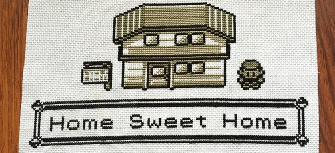Pokemon Home Sweet Home Cross Stitch by Lord Libidan
