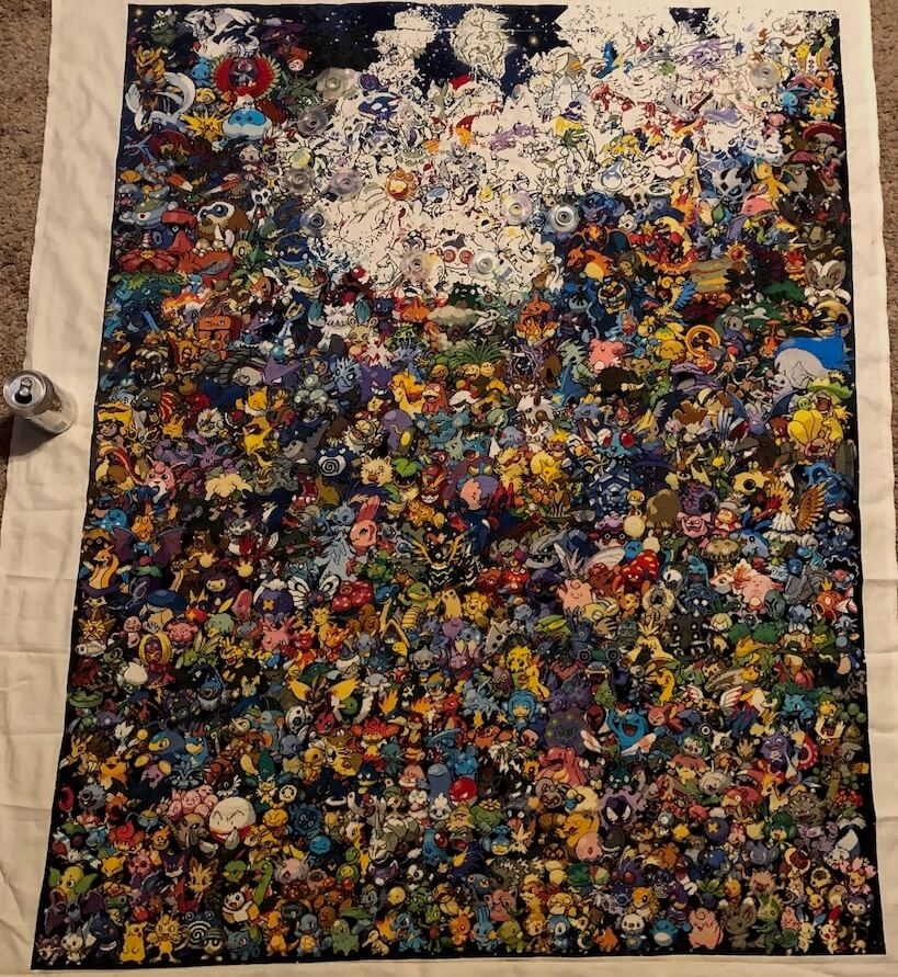 All Generations Pokemon Cross Stitch Pattern 90% complete by Leaona Walker (Source: direct)