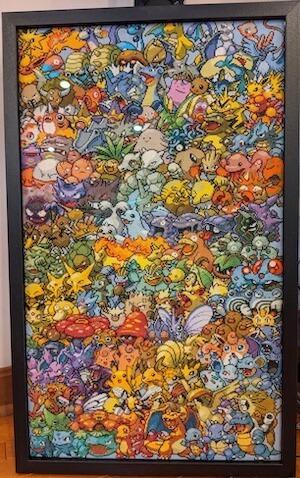 Epic Pokemon Cross Stitch Pattern Generation 1 stitched by Beth LaChance (Source: direct)