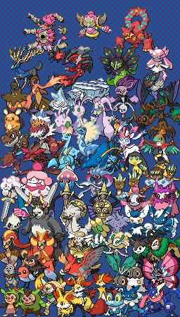 epic pokemon generation 6 cross stitch pattern