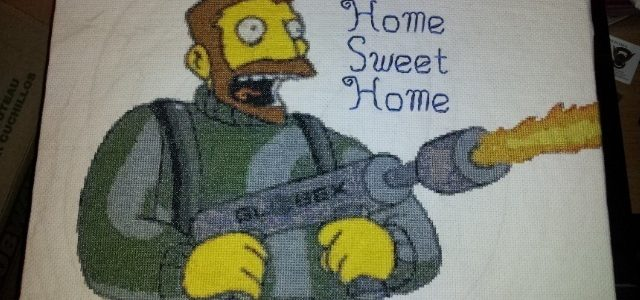the simpsons cross stitch home sweet home (source: pinterest)