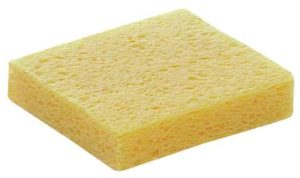 damp sponge (source: google images)