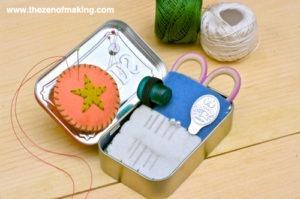 Altoids Tin Travel Cross Stitch Kit (Source: red-handledscissors.com)