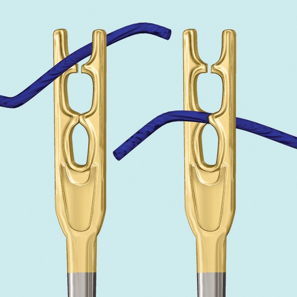 V Shaped Self Threading Needles Close Up (source: Etsy)