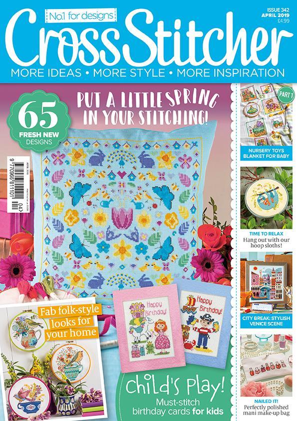 Cross Stitcher Magazine Issue 342 featuring Lord Libidan (Source: crossstitchermag.co.uk)