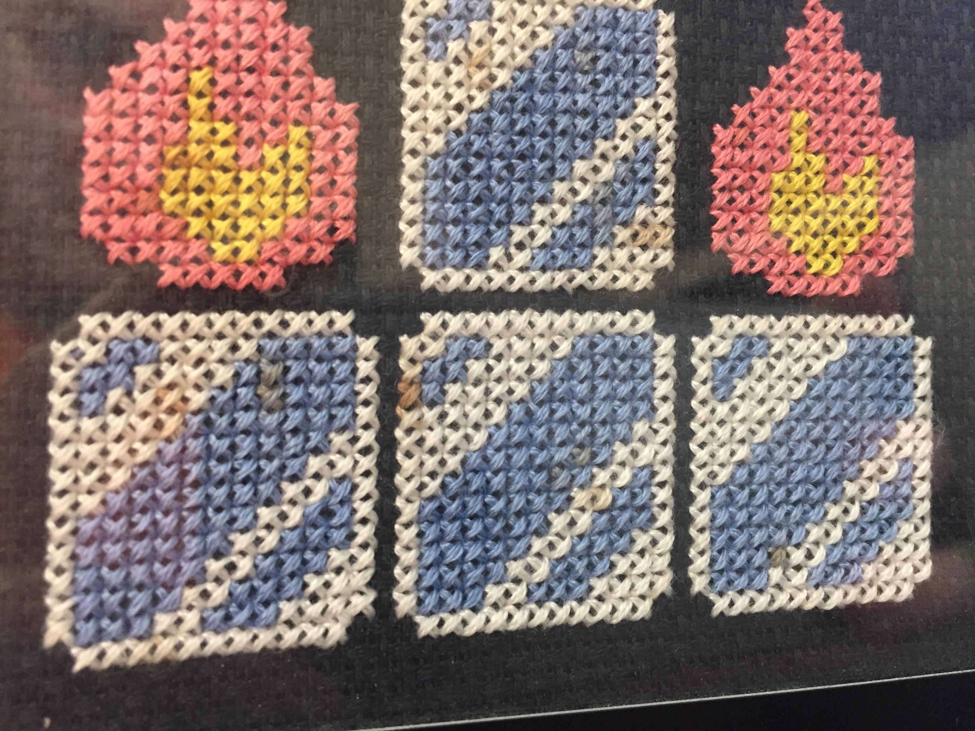 Brown Spots on Cross Stitch