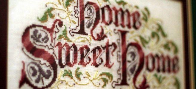 Home Sweet Home Cross Stitch Sampler (Source: Pinterest)