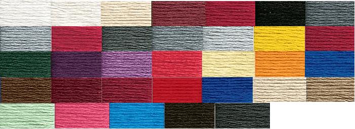 DMC thread cone color range