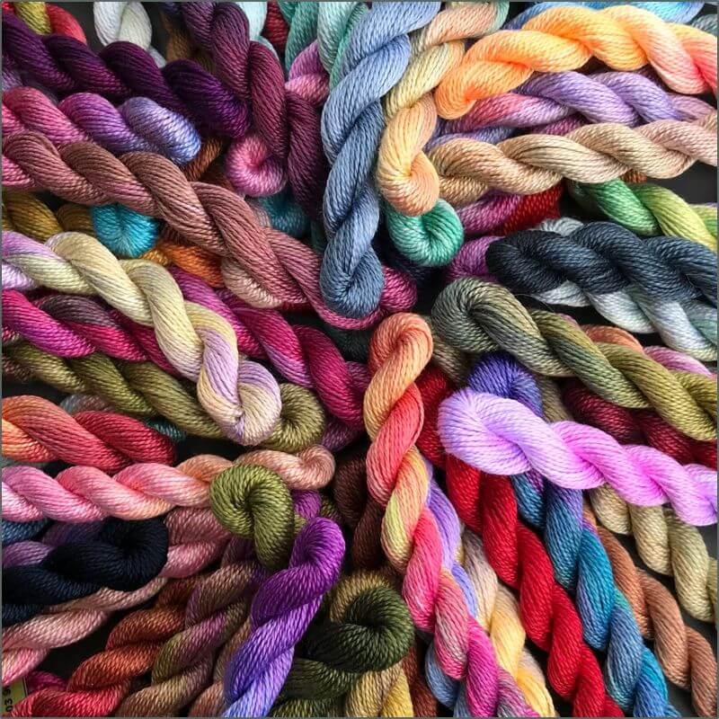 Chameleon Hand Dyed Threads (Source: africanfabric.co.uk)