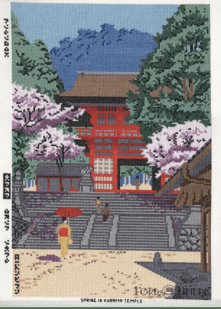 Spring In Kurama Temple Cross Stitch by Lord Libidan