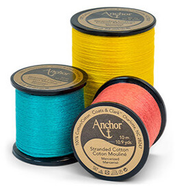 Anchor Embroidery Thread on spools (Source: Anchorcrafts.com)