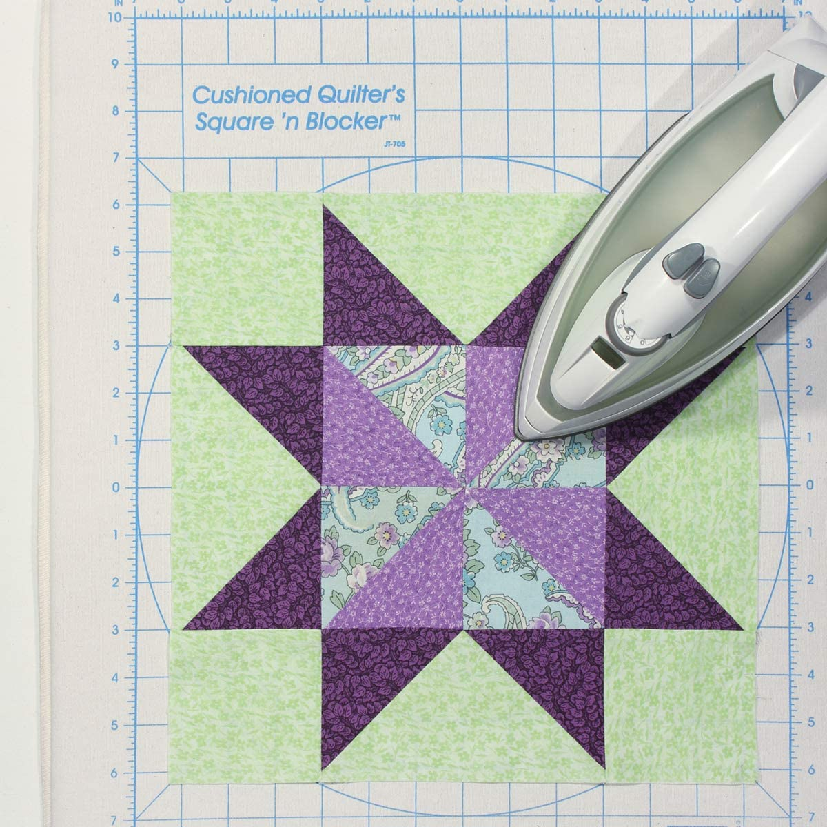 June Tailor Cushioned Quilters Square n Blocker with iron (Source: Amazon)